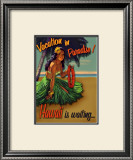Vacation in Hawaii Framed Giclee Print