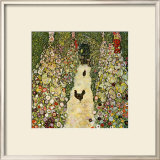 Garden Path with Chickens Framed Giclee Print by Gustav Klimt