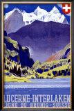 Swiss Alps Lucerne Travel Poster Framed Giclee Print