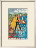 United Airlines, New England Print by Joseph Feher