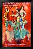 Metropolitan Opera Framed Giclee Print by Marc Chagall
