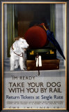 Take Your Dog with You by Rail,1923-1947 Framed Giclee Print