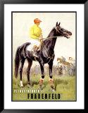Pfingstrennen, Frauenfeld Framed Giclee Print by Iwan E. Hugentobler