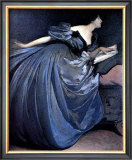 Althea Reading in Blue Dress Prints by John White Alexander