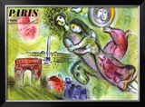Paris, l'Opera, 1965 Lmina gicle enmarcada por Marc Chagall