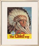 Santa Fe Railroad: The Chief Way, c.1955 Framed Giclee Print
