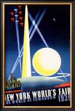 New York World's Fair, World of Tomorrow Framed Giclee Print by Joseph Binder