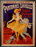 Pantomimes Lumineuses Poster by Jules Chéret
