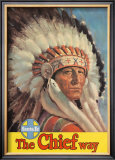 Santa Fe Railroad: The Chief Way, c.1955 Prints