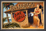 Bamboo Bar and Grill, Hawaii Art