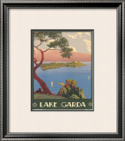 Lake Garda, Italy, c.1930 Framed Giclee Print by Severino Tremator
