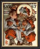 Santa's Lap, c.1923 Framed Giclee Print by Joseph Christian Leyendecker