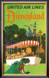 United Airlines: Disneyland in Anaheim, California, c.1960's Prints by Stan Galli