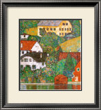 Houses at Unterach Poster by Gustav Klimt