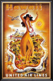 United Airlines, Hula Dancer Prints