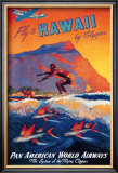 Fly to Hawaii Print by M. Von Arenburg