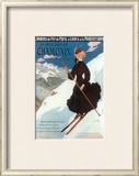 Chamonix, Sports d`Hiver Art by Abel Faivre