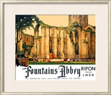 Fountains Abbey Framed Giclee Print by Fred Taylor