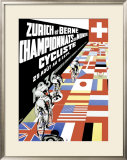 Berne Bicycle Championship, Zurich Framed Giclee Print