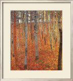 Beach Forest Framed Giclee Print by Gustav Klimt