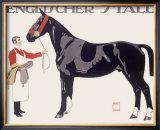 Englischer Stall Horse Framed Giclee Print