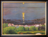 Summer Night at the Beach Posters by Edvard Munch