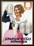 Spaten Brau Framed Giclee Print by Ludwig Hohlwein