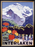Swiss Alps, Interlaken Framed Giclee Print