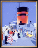 Starlit Nights, Luxury Cruises by Fumess Framed Giclee Print by Adolph Treidler
