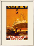 Indochine Framed Giclee Print by Sandy Hook