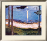 Moon Light, 1895 Prints by Edvard Munch