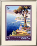 Nice Festival of Sports and Tourism Framed Giclee Print