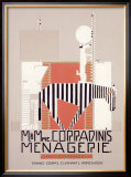 M. &amp; Mme Coradini&#39;s Menagerie Framed Giclee Print by Alfonso Iannelli