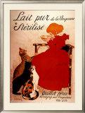 Lait pur Sterilise Print by Théophile Alexandre Steinlen