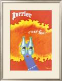 Perrier Posters by Bernard Villemot