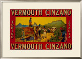 Vermouth Cinzano Framed Giclee Print