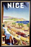 Nice, Riviera Beach Resort Framed Giclee Print by  D'hey