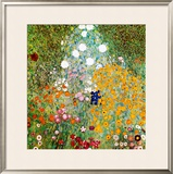 Flower Garden Art by Gustav Klimt