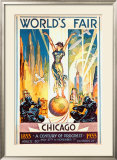 World's Fair, Chicago, 1933 Framed Giclee Print by Glen C. Sheffer