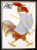 PKZ, Rooster Framed Giclee Print by Carigiet Alois