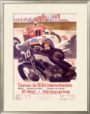 Course de l'Eifel Internationales Framed Giclee Print by Alfred Hierl