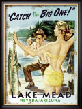 Lake Mead, Catch the Big One! Framed Giclee Print