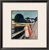 Four Girls on a Bridge Art by Edvard Munch