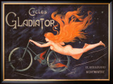 Cycles Gladiator Framed Giclee Print