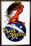 Cafe du Bresil Framed Giclee Print by Leon D'ylen