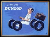 Dunlop Tires Framed Giclee Print by Raymond Savignac