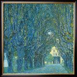 Viale Alberato Print by Gustav Klimt