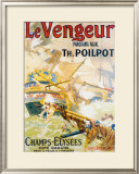 Le Vengeur Panoroma Naval Framed Giclee Print by Lucien Lefevre
