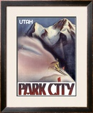 Park City, Utah: Ski Framed Giclee Print