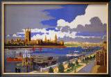 London Pride, GWR Poster, 1946 Framed Giclee Print by Frank Mason